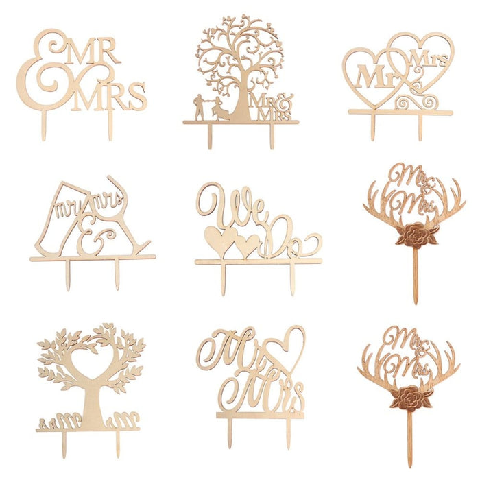 Wedding Cake Topper Laser Cut Cake Toppers | Bridelily - cake toppers
