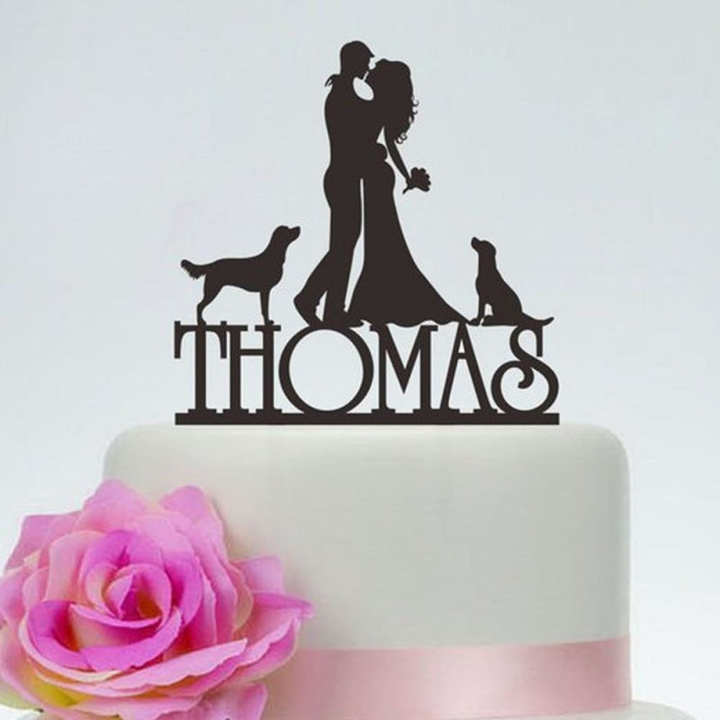 Wedding Couple Silhouette Custom Cake Toppers | Bridelily - cake toppers