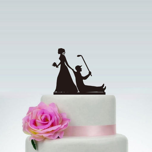 Wedding Custom Golf Sport wedding Cake Toppers | Bridelily - cake toppers
