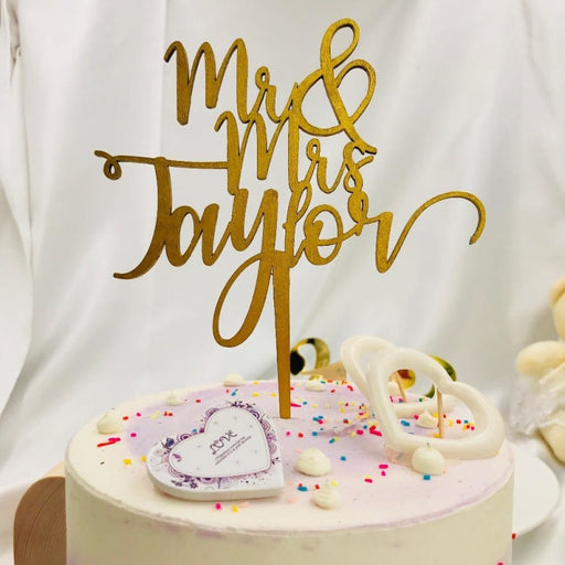 Wedding Personalized With Love Cake Toppers | Bridelily - cake toppers
