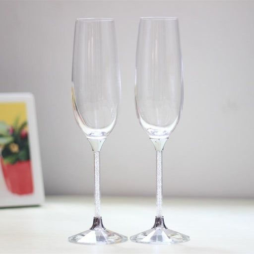 Wedding Wine Glasses Crystal Toasting Flutes | Bridelily - Toasting Flutes