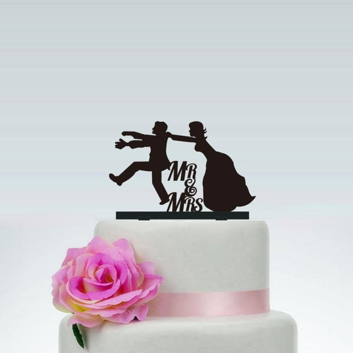 Wedding with Mr and Mrs Wedding Cake Toppers | Bridelily - cake toppers