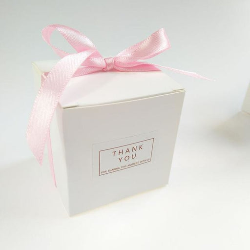 White Sweet Candy Box With Bowknot Favor Holders | Bridelily - Pink / 50 PCS - favor holders