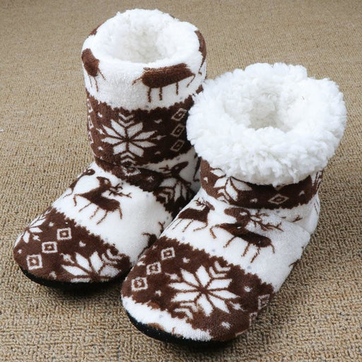 Winter Fur Slippers Women Warm House Slippers Plush Flip Flops Christmas Cotton Indoor Home Shoes Floor Shoes Claquette Fourrure - house