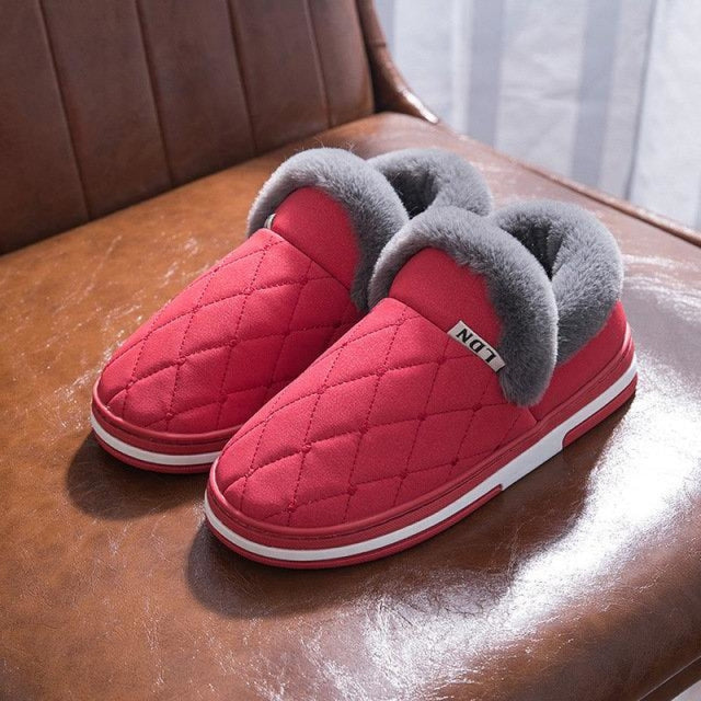 Winter Stitching Slip On Women Indoor Home Shoes - Red / US 6 - home shoes