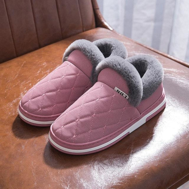 Winter Stitching Slip On Women Indoor Home Shoes - Pink2 / US 6 - home shoes