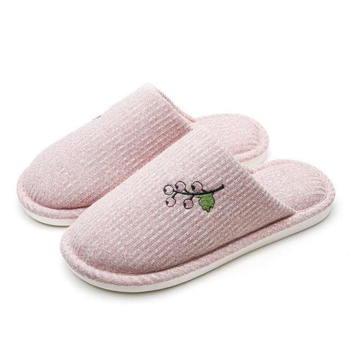 Women Round Close Toe Warm Slippers Home Shoes - home shoes