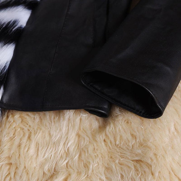 Womens Basic Winter Short Fur Coat - womens furs & leathers