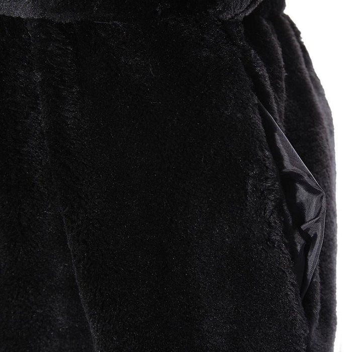 Womens Daily Street Hooded Long Faux Fur Coat - womens furs & leathers
