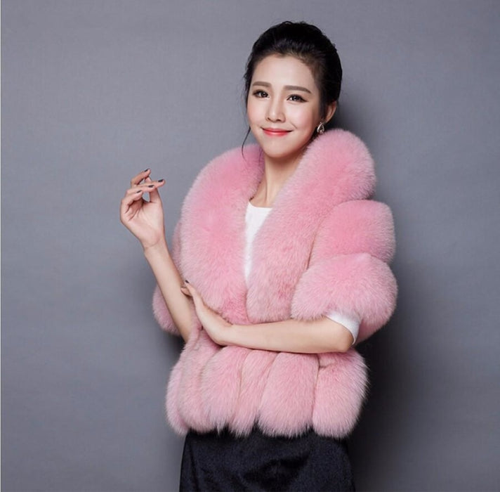 Womens Going out Winter Short Fur Coat - Free Size / Pink - womens furs & leathers