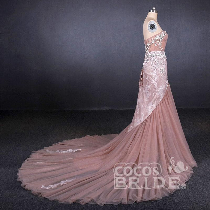 Wonderful Chic Gorgeous Sweetheart Mermaid Tulle Prom Dress Long Evening Dresses - Prom Dresses