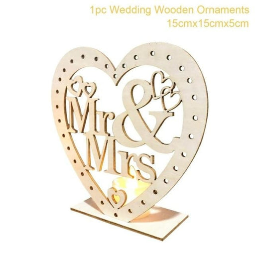Wooden Easels Rustic Wedding Decorations | Bridelily - Wooden Ornaments 2 - wedding decorations