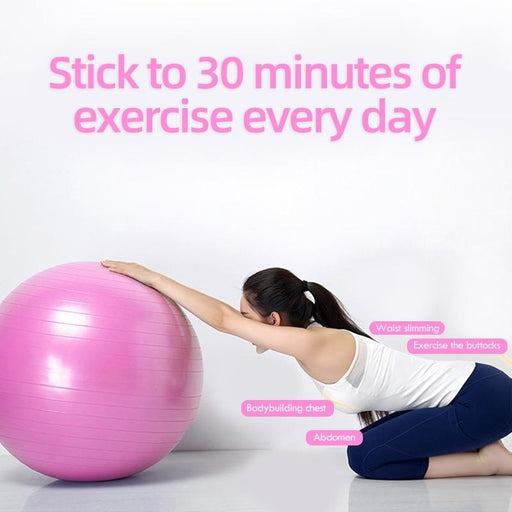 Yoga Balls Pilates Fitness Gym Balance Fitball Exercise Training Workout Massage Ball without pump - yoga balls