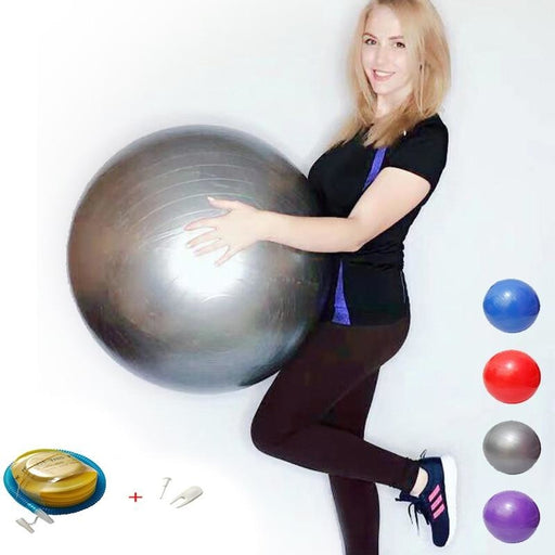 Yoga Balls Pilates Fitness Gym Balance Fitball Exercise Workout Ball with pump - yoga balls