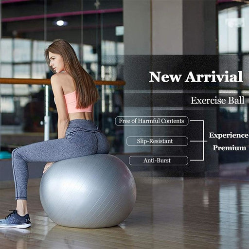 Yoga Exercise Ball Pilates Fitness Gym Balance Fit ball Anti Burst Slip Resistant Balance Ball for Workout Fitness - yoga balls