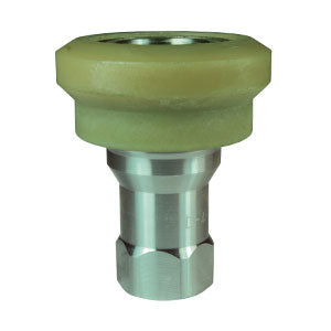 ISO-B Food Grade Nylon Flanged Female Threaded Coupler