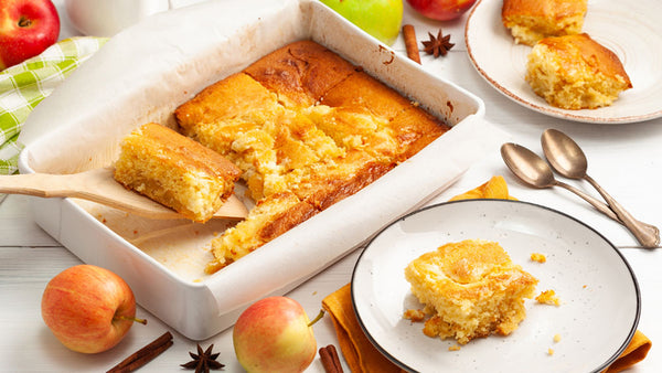 Apple Cake with Sour Cream Topping