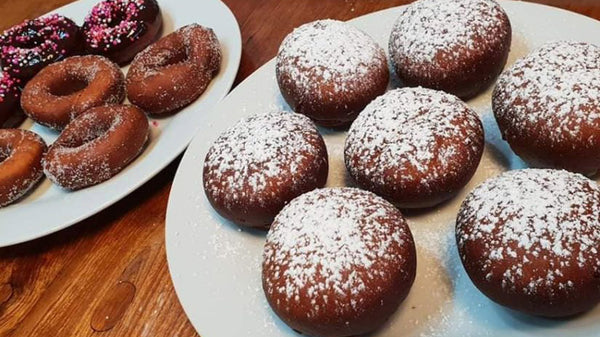 Quick, no yeast Jelly donuts- Sufganiot