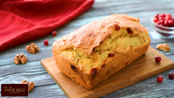 Festive Walnut & Cranberry Bread