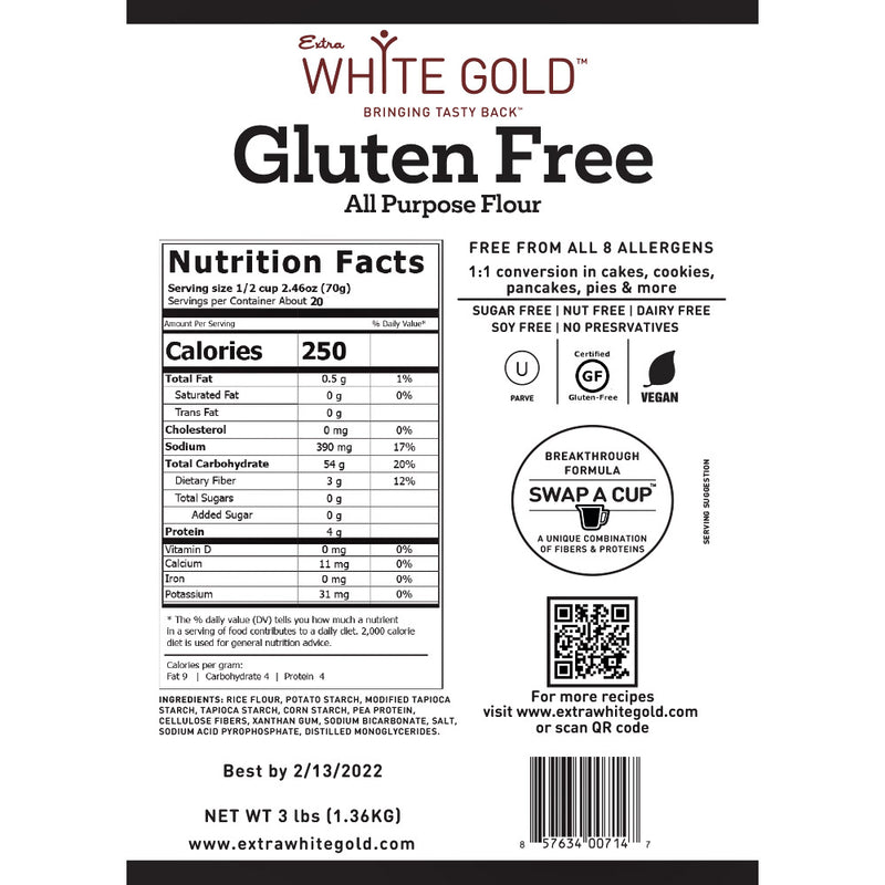 Gluten Free All Purpose Flour 3lb