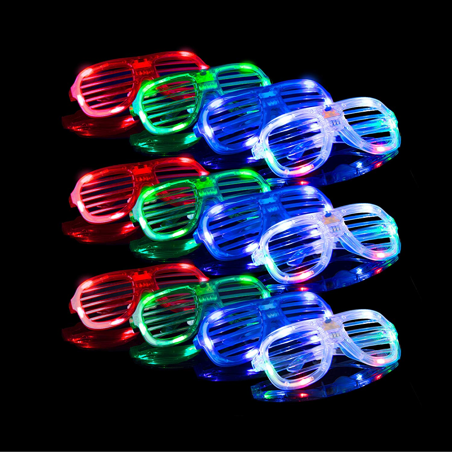 Villogó Led Multi Color Fénykiáltó Party Party Favor Játékszemüvegek Party Supplies 12 db