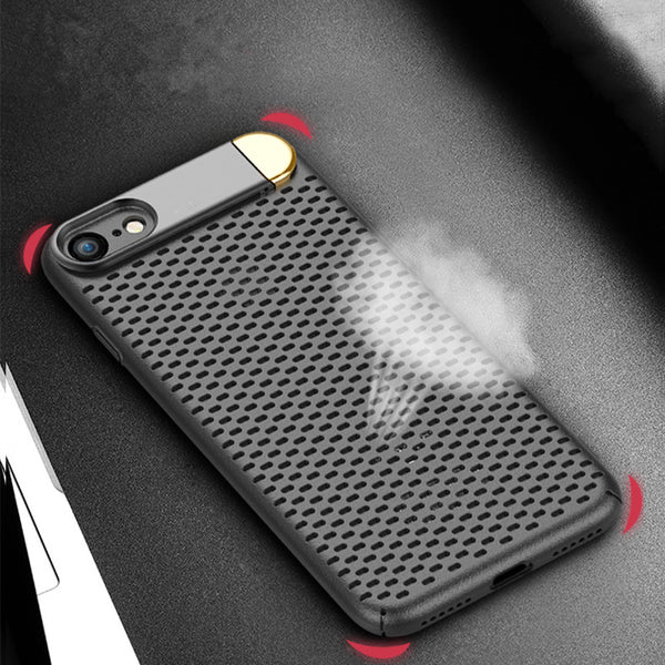 NEER Mesh fém tok tartó tok iPhone X / 8P / 7P / 8/7 Holder PC tok tok iPhone-hoz