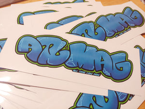 ATL MAG Graffiti Sticker 2x6