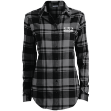 Load image into Gallery viewer, Embroidered Ladies' Plaid Flannel Tunic