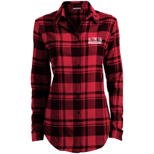 Embroidered Ladies' Plaid Flannel Tunic
