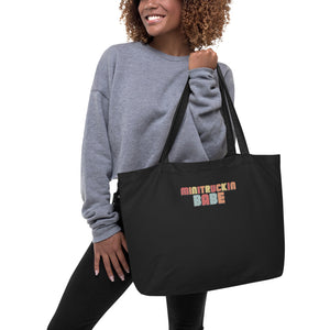 Minitrucker Babe Large organic tote bag