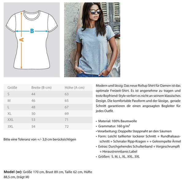PM FASHION WOMEN® Simple but significant  - Damen RollUp Shirt - PM FASHION®