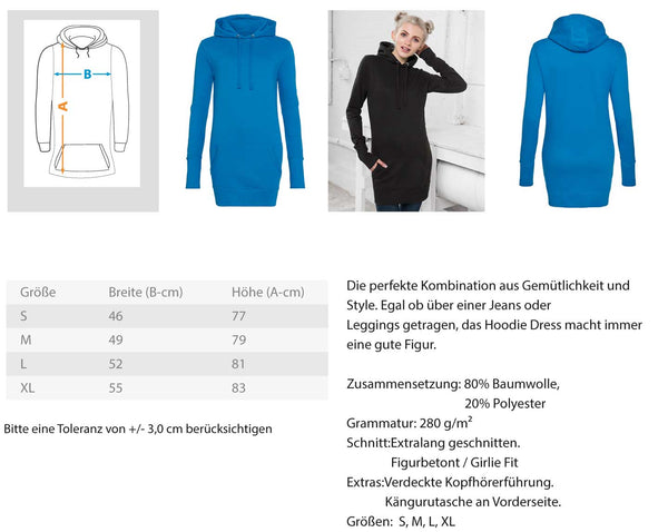 PM FASHION WOMEN® Lashes  - Damen Hoodie-Kleid - PM FASHION®
