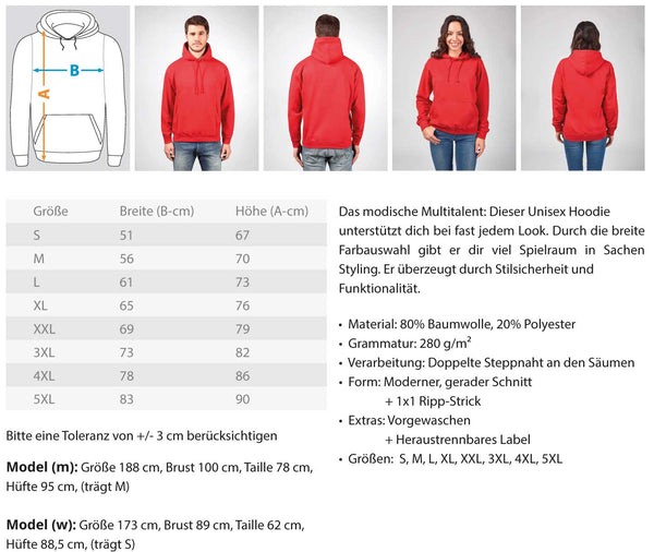 PM FASHION MEN® Taken  - Unisex Kapuzenpullover Hoodie - PM FASHION®