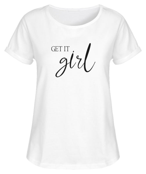 PM FASHION WOMEN® Get it Girl  - Damen RollUp Shirt - PM FASHION®
