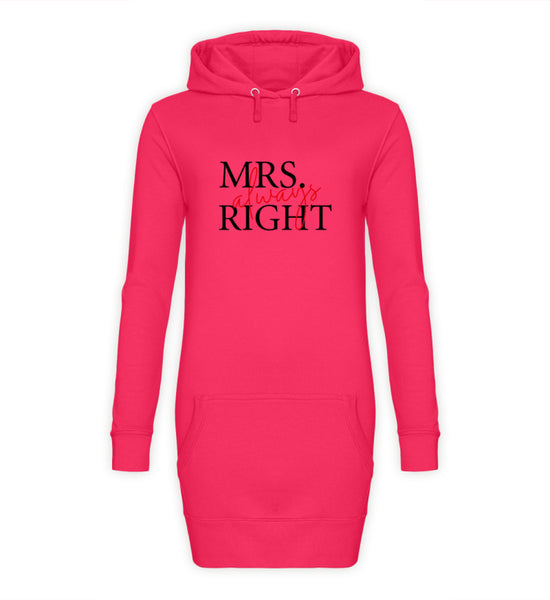 PM FASHION WOMEN® Mrs. Always right  - Damen Hoodie-Kleid - PM FASHION®