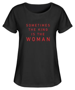 PM FASHION WOMEN® The King is the Women  - Damen RollUp Shirt - PM FASHION®