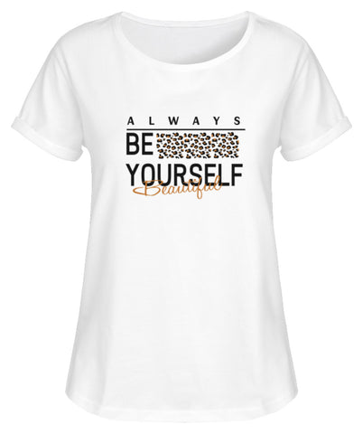 PM FASHION WOMEN® Be Yourself  - Damen RollUp Shirt - PM FASHION®