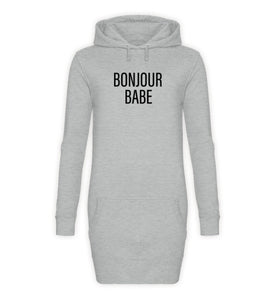 PM FASHION WOMEN® Bonjour Babe  - Damen Hoodie-Kleid - PM FASHION®