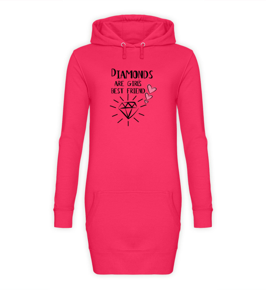 PM FASHION WOMEN® Diamonds  - Damen Hoodie-Kleid - PM FASHION®