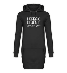 PM FASHION WOMEN® Fluent Sarcasm  - Damen Hoodie-Kleid - PM FASHION®