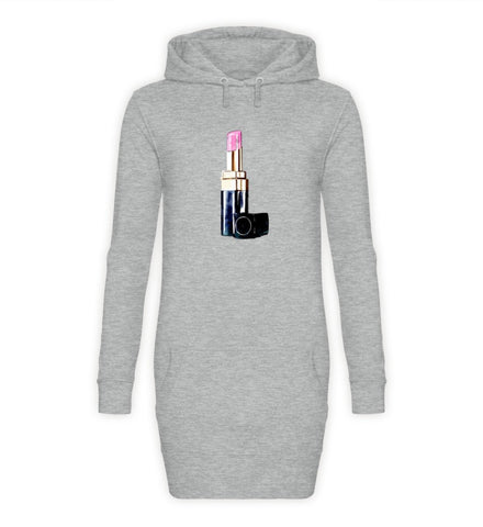 PM FASHION WOMEN® Lipstick  - Damen Hoodie-Kleid - PM FASHION®