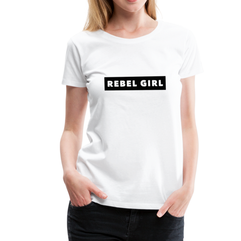 Rebel Girl T-Shirt - Weiß