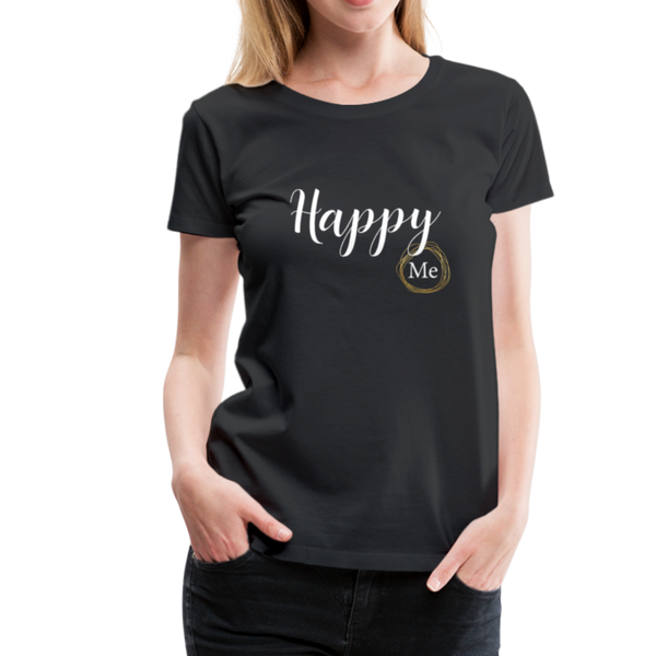 Happy me T-Shirt - Schwarz
