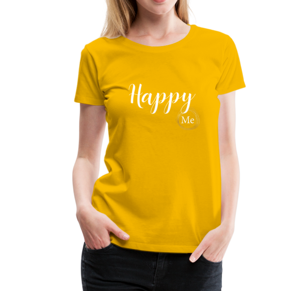 Happy me T-Shirt - Sonnengelb