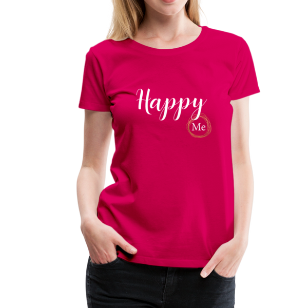 Happy me T-Shirt - dunkles Pink