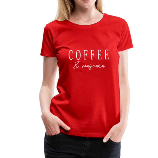 Coffee & Mascara T-Shirt - Rot