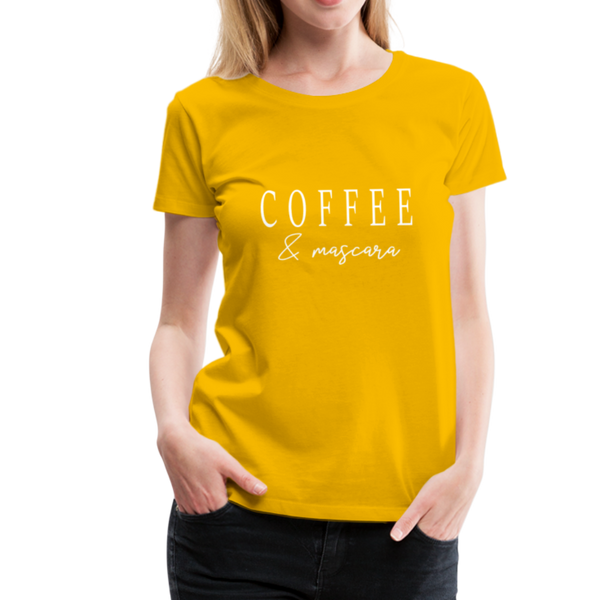 Coffee & Mascara T-Shirt - Sonnengelb