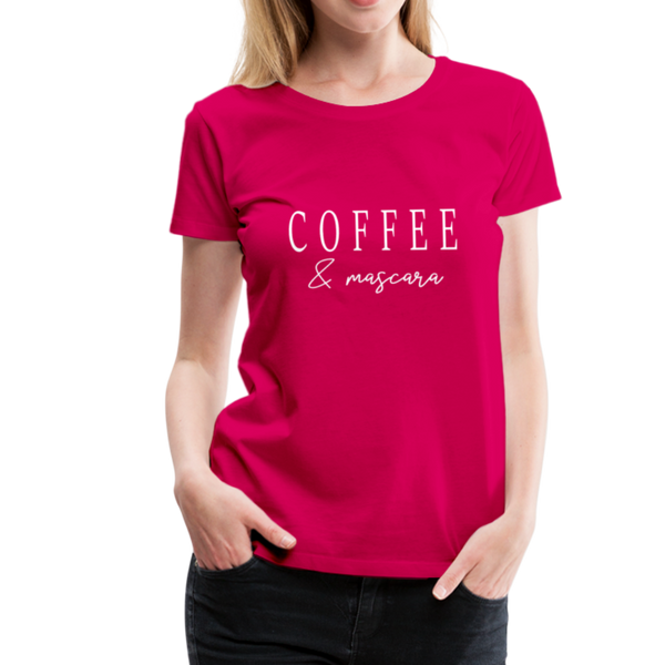 Coffee & Mascara T-Shirt - dunkles Pink