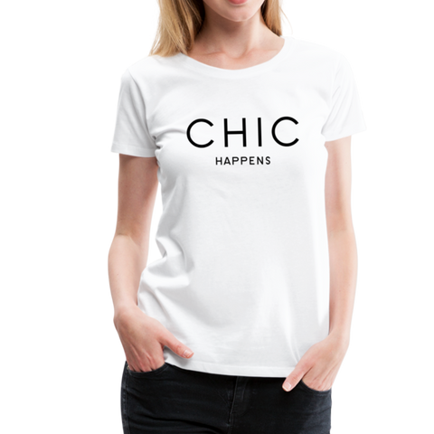Chic Happens T-Shirt - Weiß