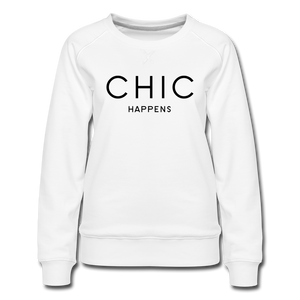 Chic Happens Sweatshirt - Weiß